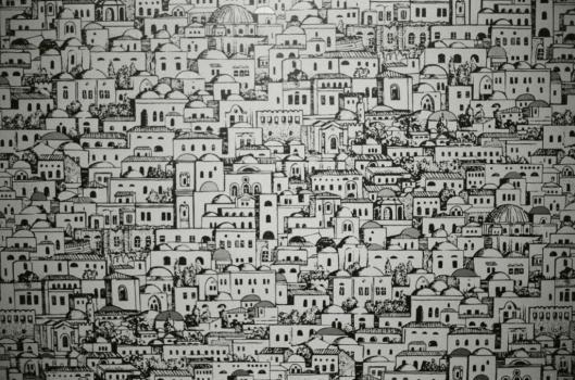 Mediterranea, papier peint dessiné par Piero Fornasetti