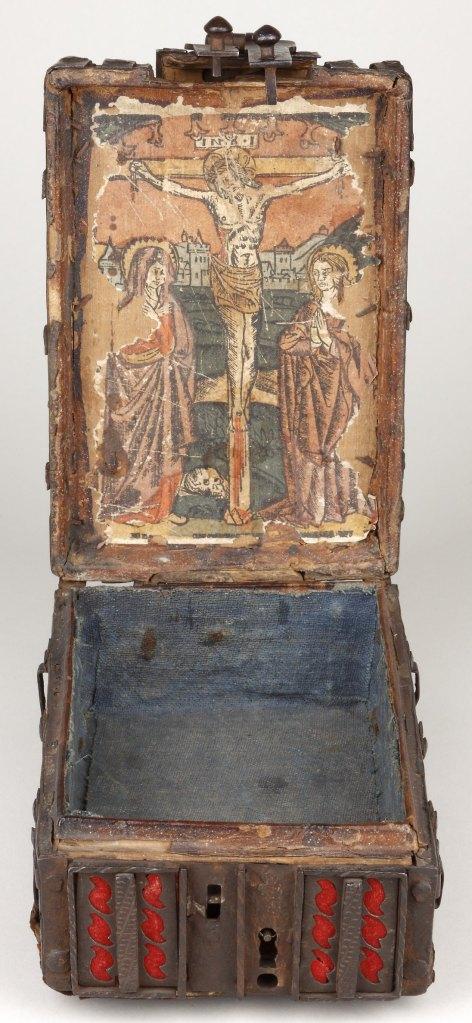 Coffret à estampe à la Crucifixion, vers 1490/1500, Gallica/BnF