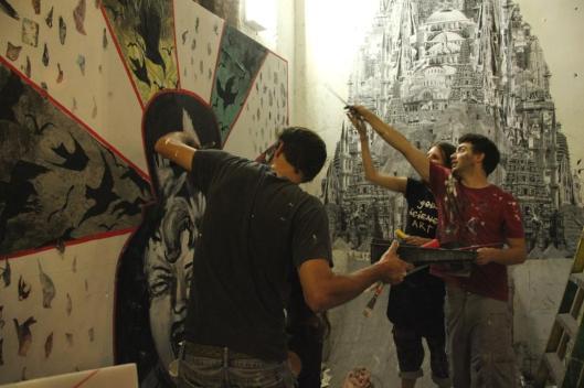 Beaux-Dégats, Fresh Paint Gallery, septembre 2012 (pas trouvé meilleure photographie de l'oeuvre)