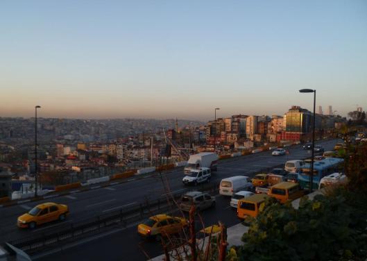 Istanbul, hiver 2010, la même vue au tombée du jour