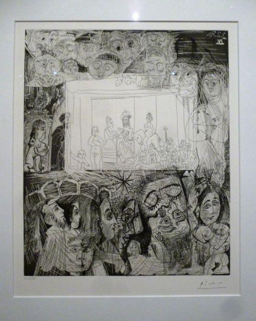 Pablo Picasso, Ecce Homo d'après Rembrandt ou Le théâtre de Picasso, 1970, eau-forte, pointe sèche et aquatinte, BNF