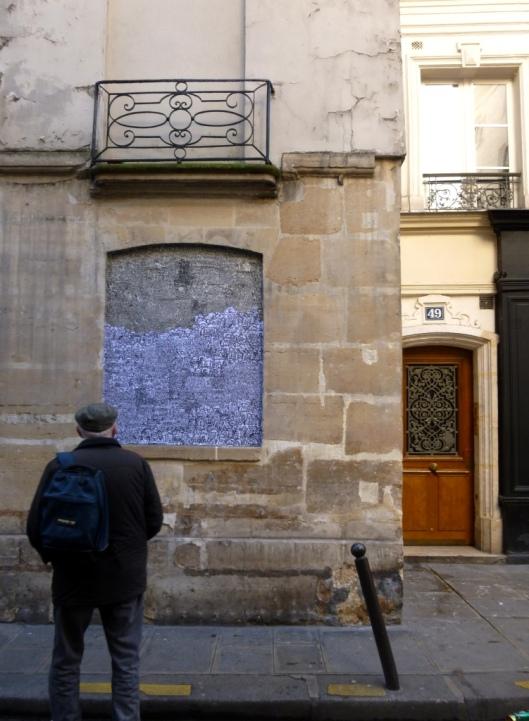 Collage de Popeye, Rue des Francs Bourgeois, Paris 3e, février 2014