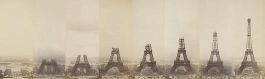 Théophile Féau La Tour Eiffel en construction, série de photographies, 1887-1889, Musée d'Orsay