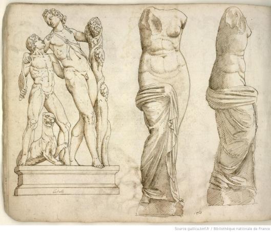 Pierre Jacques, Album de dessins d'après l'antique, exécutés à Rome [vers 1576], vue 21