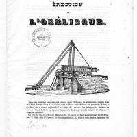 25 octobre 1836, le jour où l'obélisque se dressa dans le ciel parisien