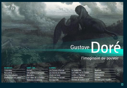 Page d'accueil de l'exposition virtuelle Gustave Doré sur le site de la BNF
