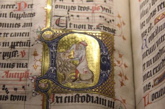 """Détail d'une enluminure, exposition """"Miniatures flamandes"""", BnF/Bibliothèque royale de Bruxelles"""