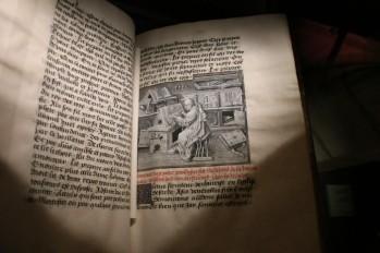 """Jean Miélot, Miracles de Notre-Dame, BnF, Livre exposé lors de la présentation bruxelloise de """"Miniatures flamandes"""""""