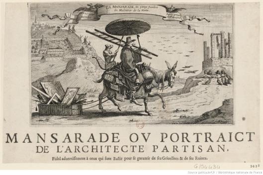 La Mansarade ou pompe funèbre du Maltotier de la Vertu, Vazi-voir excudit. avec privil. de F. Mansard