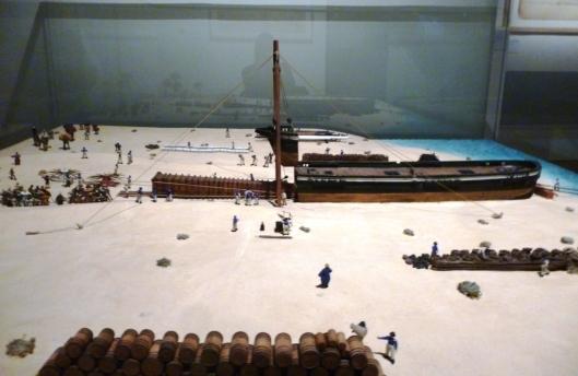 Transport de l'Obélisque dans le bateau Le Luxor, Maquette au 1/66, atelier du musée de la Marine, 1857, Musée de la Marine