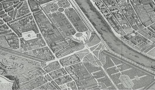 Détail du plan Turgot, 1739