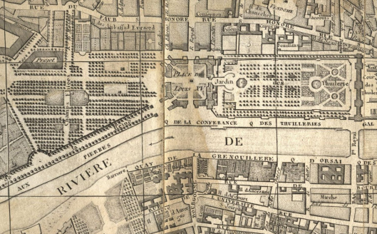 Détail du plan de Paris dressé par Brion de la Tour