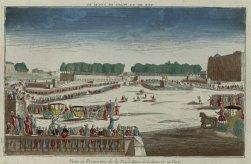 vue de la place Louis XV , vue d'optique publiée chez Chéreau, vers 1763, Gallica/BnF
