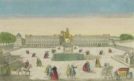 Vue perspective de la place de Louis XV, vue d'optique publiée chez Mondhare, vers 1763, Gallica/BnF