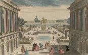 Vue perspective de la place de Louis XV. en entrant par la Porte S. Honoré à Paris, vue d'optique publiée chez Basset, vers 1763, Gallica/BnF