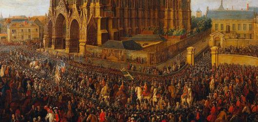 Sacre Louis XV Reims, 1722. cavalcade