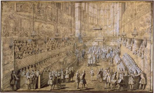 Pierre Dulin, Couronnement du Roi à Reims, 1722.