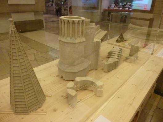 Présentation de fragments de la maquette en septembre et octobre dans le hall de la Cité