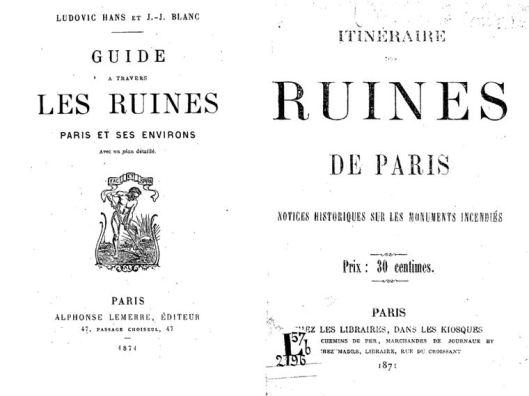 Deux guides touristiques des Ruines de Paris