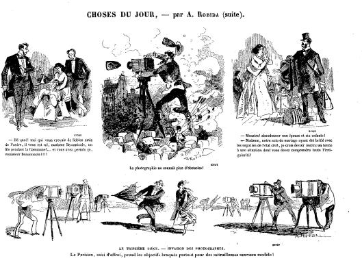 Robida, caricature dans Le journal amusant, 1er juillet 1871, n°774, p.3