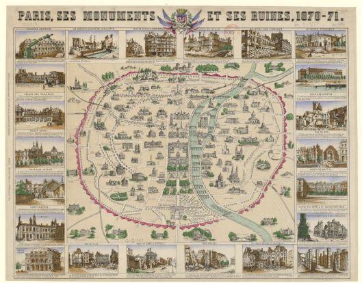 Paris, ses monuments et ses ruines, 1870-71, édité par Baudel en 1871.