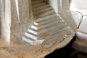 Test de nettoyage au microsablage sur l'escalier