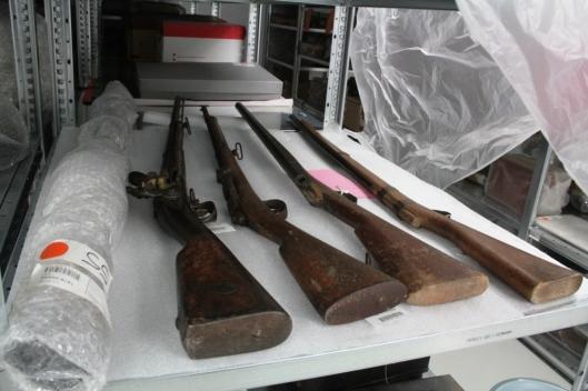 Fusils de bois pour les bataillons scolaires, vers 1890, Musée national de l'Education, Rouen