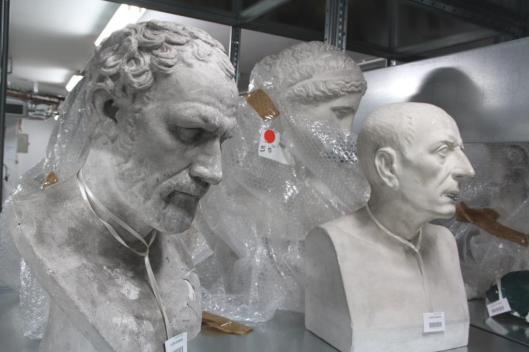 Bustes en plâtre, Réserves du musée national de l'Education, Rouen