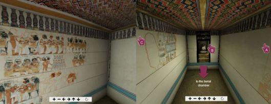 Reconstitution de la tombe de Nébamon, animation 3D proposée par le British Museum (cliquez sur l'image pour y accéder)