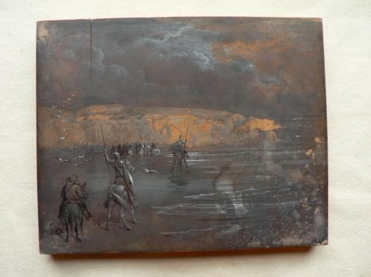 Gustave Doré, matrice inachevée pour Don Quichotte, BnF, réserve du département des estampes et de la photographie