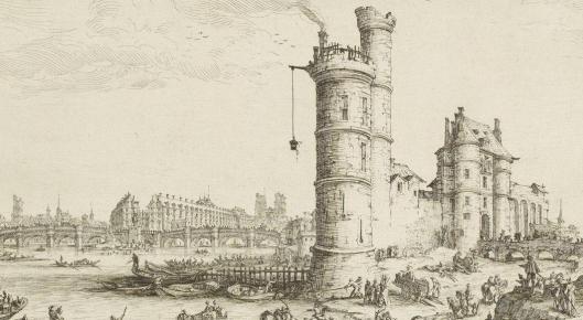 Callot Pont Neuf Tour Nesle Paris 1630