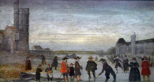 Patineurs Seine 1608 Louvre Tour Nesle