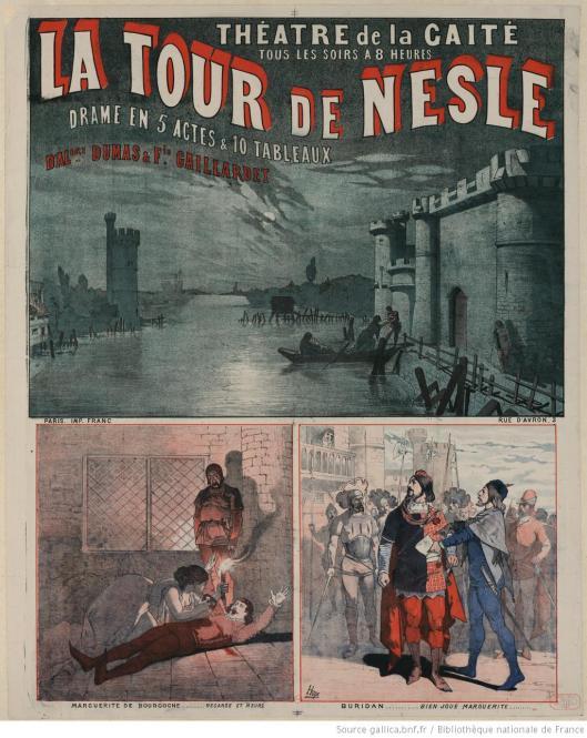 Théatre de la Gaité [...] La Tour de Nesle, drame en 5 actes et 10 tableaux d'Al[exan]dre Dumas & Fie Gaillardet. 1882