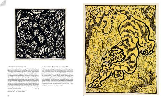 Double page : Raoul Dufy, le serpent, 1910, Paul Ranson, Tigre dans les jungles, 1893