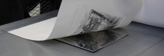 Impression d'une estampe à la chalcographie du Louvre